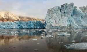Arctic glacier in Svalbard