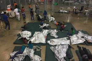 McAllen, Texas people inside a processing centre
