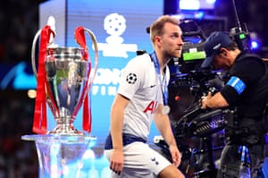 Christian Eriksen during the Champions League final, which Tottenham lost to Liverpool.