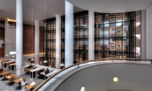 The reading room and cafe of the British Library.