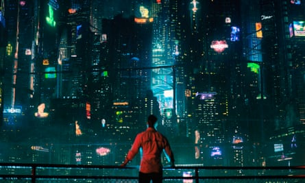 Echoes of Blade Runner … Joel Kinnaman in the TV adaptation of Altered Carbon.