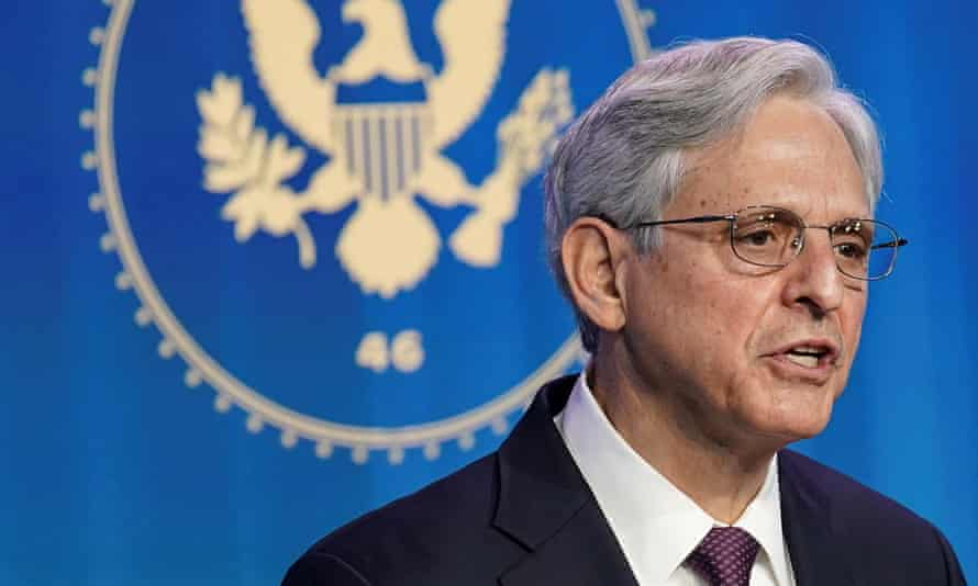 Merrick Garland speaks in Wilmington, Delaware in January.