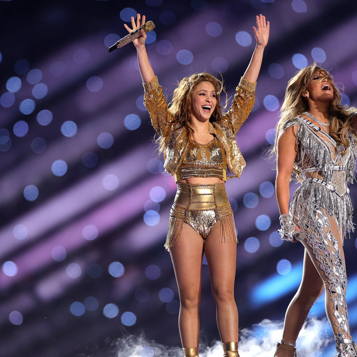Super Bowl Ads And Half Time Show Shakira And J Lo Team Up For Dazzling Performance As It Happened Culture The Guardian