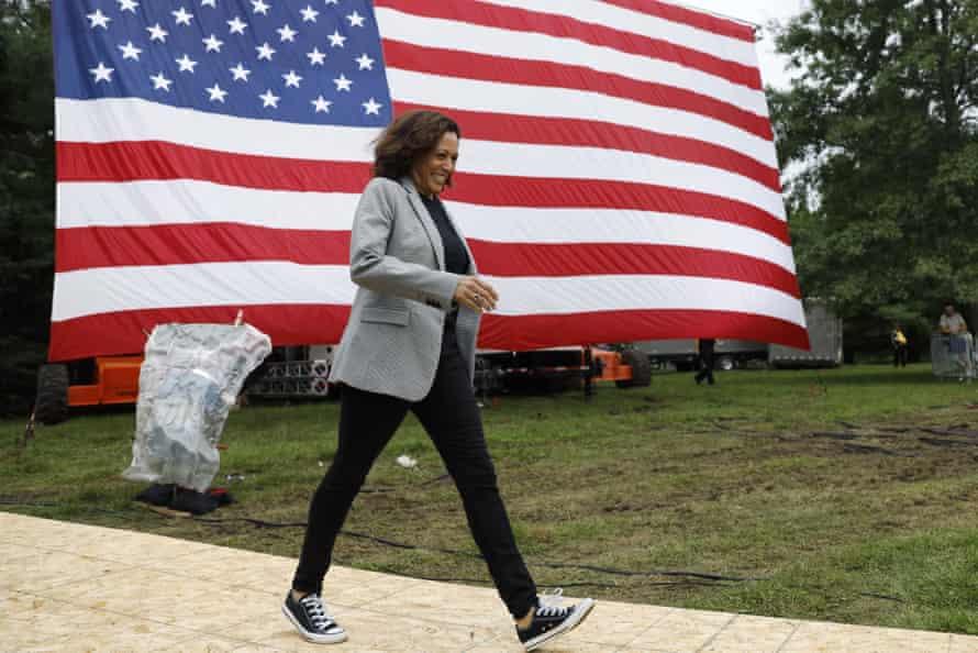 The Democratic presidential candidate Kamala Harris