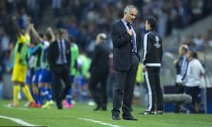 Chelsea's José Mourinho against Porto