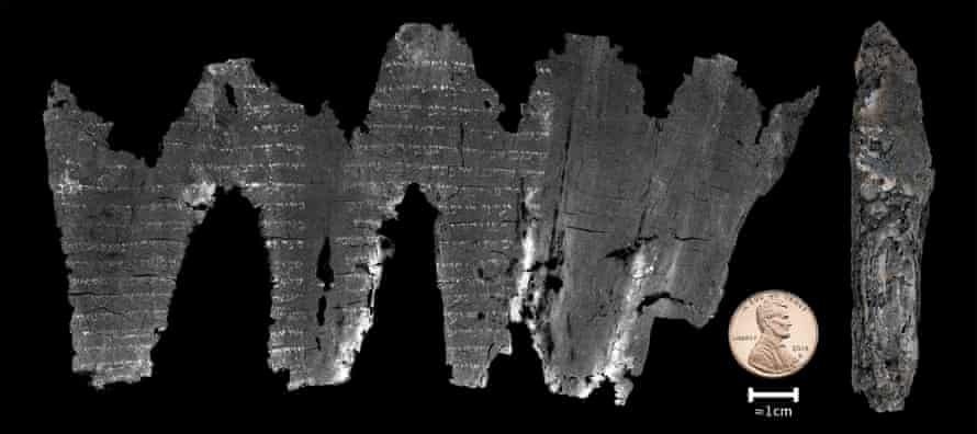 The computer reconstruction reveals the ancient writing with such clarity that scholars have read entire verses of the work.