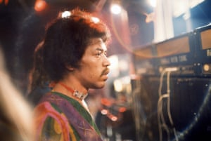 "Jimi Hendrix – deep in thought'Just before Hendrix went on stage, photographer Charles Everest said, ""How do you feel?"" and then got this shot of Jimi deep in thought'"