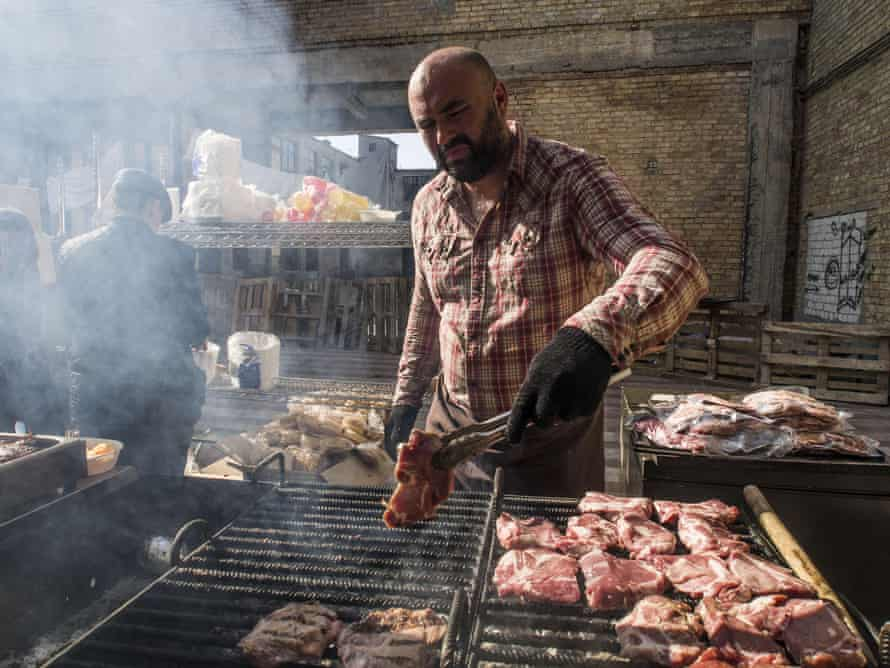 Street food event in Kiev