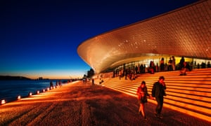 Lisbon, Portugal won the emerging culture city of the year award. Shown here is the Museum of Art, Architecture and Technology (MAAT)
