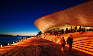Snakeskin statement … the Museum of Art, Architecture and Technology.