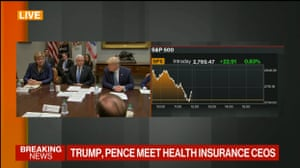 Donald Trump and Mike Pence meeting healthcare bosses today
