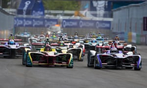 And they're of. Alex Lynn of DS Virgin Racing, right, and Daniel Abt of ABT Schaeffler Audi Sport lead the charge from the starting grid