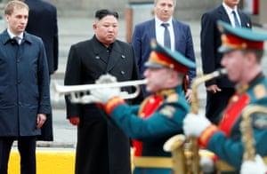 Kim is welcomed to Vladivostok