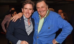 The farewell tour? … Rob Brydon and Barry Humphries together in 2018.