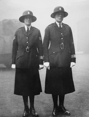 Two officers in the mist