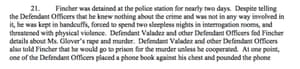 Excerpt from Vincent Thames' civil lawsuit documents.