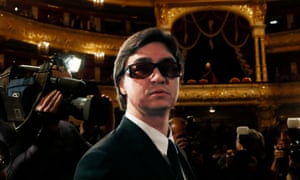 Sergei Filin attends a Bolshoi company meeting in September 2013, only nine months after the attack – but his return wasn't welcomed by all.