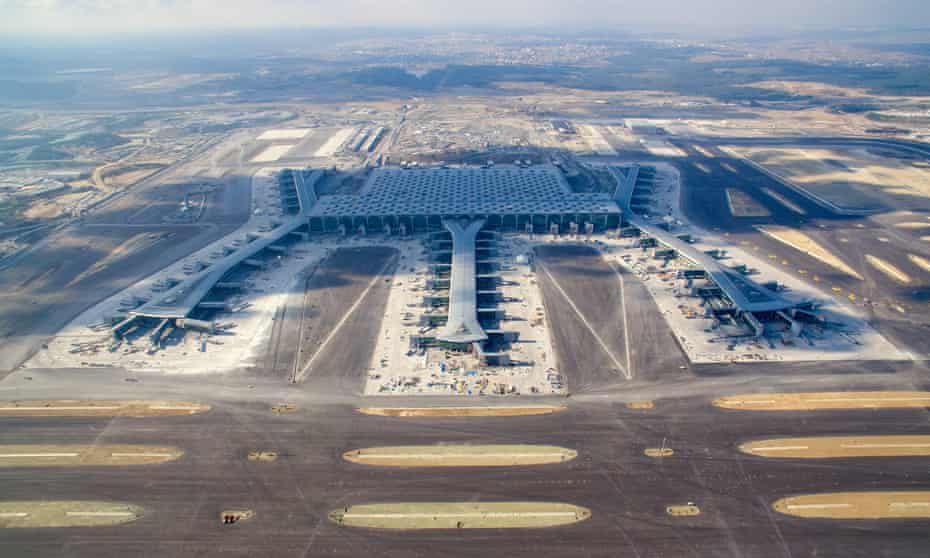 Istanbul New Airport, set to be the world's largest, and one of a current crop of construction megaprojects.