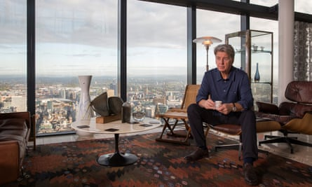 'There aren't enough expensive homes in the city' … Ian Simpson in his Beetham Tower penthouse.