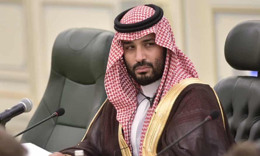 Saudi Arabia's crown prince Mohammed bin Salman in Riyadh, October 2019