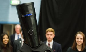 Lord Buckethead is interviewed at the count in Theresa May's Maidenhead constituency in 2017. He has metamorphosed into Count Binface