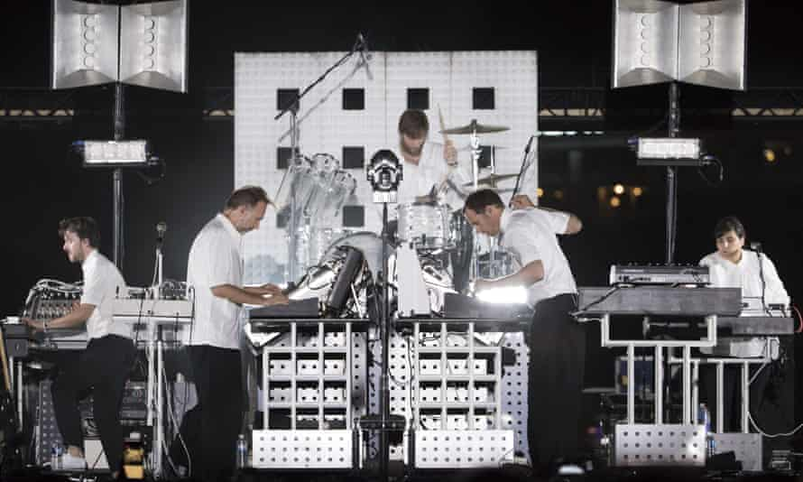 Soulwax playing at the Nice jazz festival in 2018
