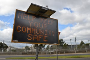 A sign in Melbourne after Victoria's reimposition of lockdown in coronavirus hotspots