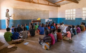 Students at Mguwata primary school in Malawi.