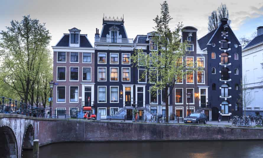 A typical view of Amsterdam