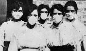 Women with face masks during the 1918 flu pandemic