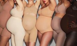'Not to slim, but to support …' Kim Kardashian West's Skims maternity shapewear.