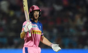 Rajasthan Royals' Jos Buttler was dismissed for 69 in controversial fashion.