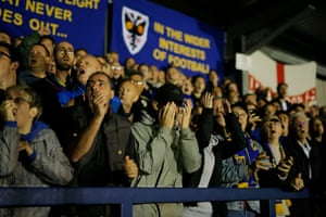 Home fans despair at a miss in the second half