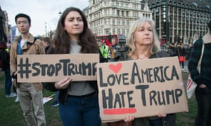 Anti-Donald Trump protest, London