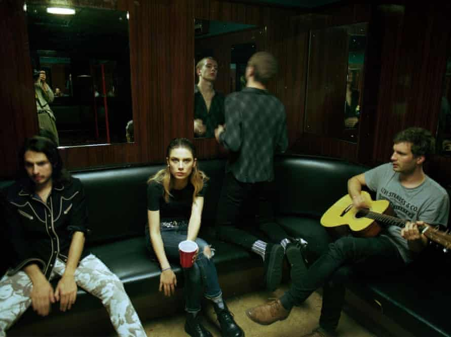 a scene from Michael Winterbottom's On The Road with Wolf Alice documentary at BFI London film festival