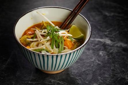 David Atherton's laksa noodle soup