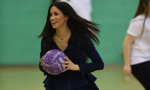 Meghan: 'Amazing. Not only can I open a car door, I can also hold a ball.'