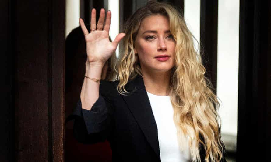 Amber Heard arrives at court on Monday