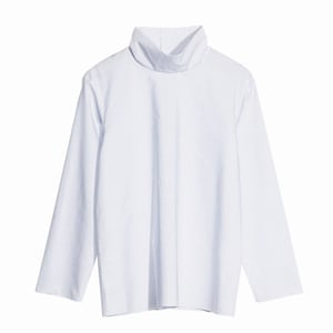 white and pale blue high necked blouse, And Other Stories