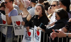 A vigil in Manchester, the day after a suicide attack at an Ariana Grande concert in May 2017 left 22 people dead.