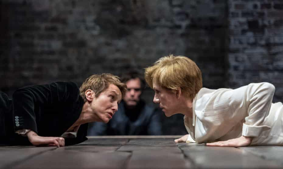 Like 'an opened-out version of the same person': Lia Williams, left, as Elizabeth and Juliet Stevenson as Mary at the Almeida.