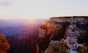 Scenic View Of Grand Canyon Against Sky At Sunrise