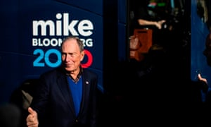 Michael Bloomberg at a campaign event.
