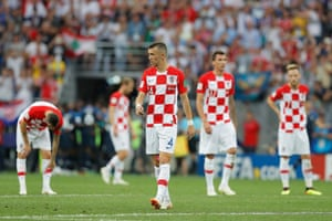 Croatia's players look shellshocked.