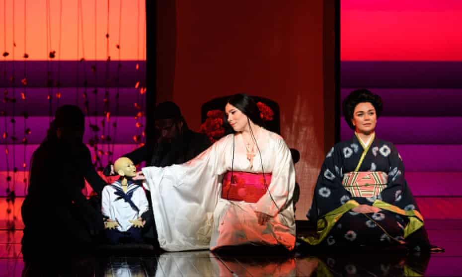 Natalya Romaniw, centre, as Cio-Cio San, and Stephanie Windsor-Lewis (Suzuki) in Madam Butterfly.