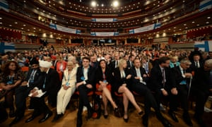 Delegates at the Conservative conference in Birmingham