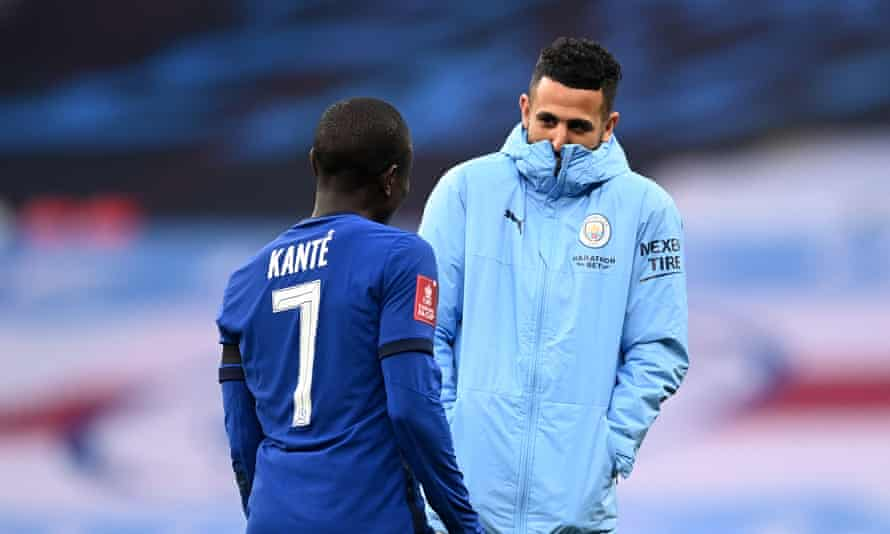 N'Golo Kanté and Riyad Mahrez, title winners together in Leicester, will line up on opposite teams in the final.