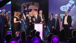 Some of the winners at last year's Bafta Games Awards ceremony.