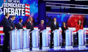 The Democratic candidates for president clashed in a live televised debate in Miami.