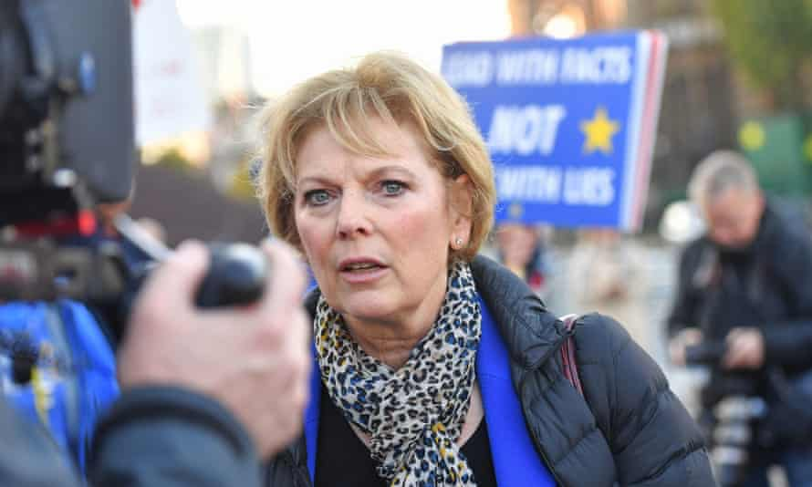 The former Tory MP Anna Soubry